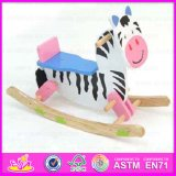 2015 Hot Sell Cartoon Kids Wooden Horse Cow Toys, Modern Style Wooden Rocking Horse, Cheap Sale Wooden Toy Rocking Horse Wjy-8005