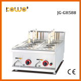 restaurant High Efficiency Counter Top Stainless Steel Gas Italy Noodle Pasta Cooker with 6 Baskets for Catering