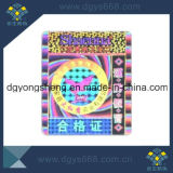 Custom High Quality Rainbow Effect Hologram Label Printing