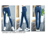 2016 New Women Clothes High Waist Hole Jeans