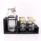 Cheap 900ml Square Glass Milk Bottle Yogurt Bottle and Mason Jar Set
