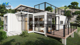 2X 40FT Hq Modular Prefab /Prefabricated Shipping Container House for Holiday Apartment.