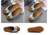 Wholesale Linen Women Indoor and Outdoor Beach Slipper Fashion Sandal Slippers with Bow