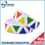 Wholesale Cheap 1 Inch Custom Logo Emboss Deboss Imprint Silicone Bracelet
