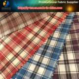 Stock Fabric! Cheapest Check Fabric, Polyester Yarn Dyed Woven Fabric for Jacket (X001-4)