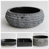 Natural Black Marble Granite Stone Sink/Bowl/Basin for Bathroom/Kitchen/Countertop