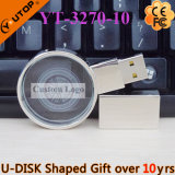 Creative Magnifying Glass/Lens Crystal USB Pendrive as Gifts (YT-3270-10)