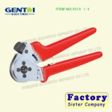 Ratcheting Lock Pliers Four-Mandrel Crimping Plier for Turned Contacts