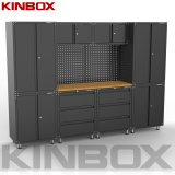 Kinbox 11 Pieces Cabinet Garage Rolling Tool Side Organization for Home Garage