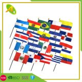 Custom Polyester Fans Sports All Countries Hand Held Flag Cheap Small Size Advertising National Flag Custom Hand Stick Flag (03)