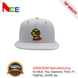 6 Panel Adjustable Fashion Flat Embroidery Cotton Snapback Flexfit Cap