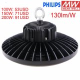 IP65 Waterproof 100-277V 230V 240V 200W Industrial UFO High Bay LED Lighting