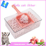 Peach Fragrance Tofu Cat Litter with Clump and Odor Control