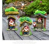 Garden Decoration Polyresin Gnomes Statue Flower Pot