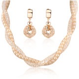 Fashion Gift Pearl and Crystal Jewelry Necklace Set for Spring Summer Season
