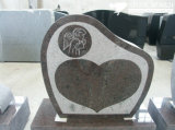 Granite Stone Monument / Tombstone with Custom Design - Tt17