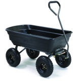 4 Wheels Dump Cart Garden Yard Wagon Utility