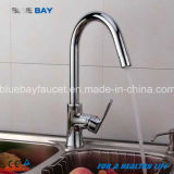 Kitchen Tap Hot&Cold Mixer Faucet Sink Brass Chrome Single Handle Hole