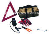 Portable Emergency Roadside Auto Tool Kit with Booster Cable
