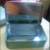 Metal Box with Higed Lid for Soap Packaging