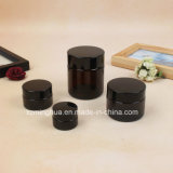 Dark Brown Cosmetic Bottle Glass Cosmetic Packaging Cream Jar