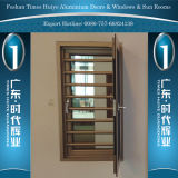 Aluminium Security Window with Tempered Glass and Fly Net