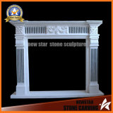 English Fireplace Mantel Antique Looking Marble Fireplace Surround