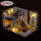 Wooden Toy Doll House with Furniture+