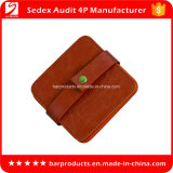 China Factory Price Round Personalized Leather Wholesale Coaster as Promotion Gift