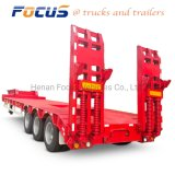 Lowboy/Low Bed/Lowbed Utility Heavy Truck Tractor Semi Trailer with Twist Locks