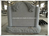 Wholesales China Factory Gray Granite Carving Cost of Headstones Tombstone Prices
