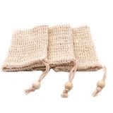 Hot Sale Portable Low Price Custom Logo Drawstring Cotton Mesh Sisal Soap Bag Small