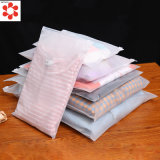 Wholesale Custsom Cheap White Matte CPE Slider Ziplock Waterproof Bag for Clothes Socks Packaging