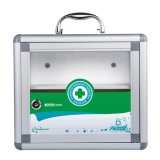Metal First Aid Medicine Cabinet with Glass Door and Lock