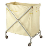 Foldable Hotel Use Classic Linen Trolley with Solid Wheels
