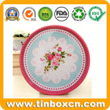 Round Fruit Tin Serving Trays for Decoration Metal Plate