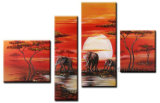 Canvas Art African Oil Painting for Home Decor (AR-031)