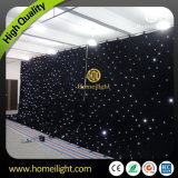 4 * 6 M Fireproof Twinkling LED Star Curtain for Wedding Party Eevnts Stage Backdrop