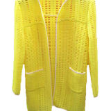 Yellow Polyester Fashion Mesh Fabric for Garment (M1009)