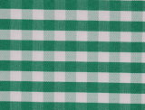 Green/White Checks Twill CVC Yarn Dyed Fabric Shirting