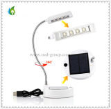 Wholesale for Students with USB Cable Rechargeable LED Table Lamp with Solar Panel