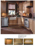 Maple Solid Wood Kitchen Cabinet (JX-KCSW021)