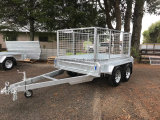 2019 6X4 7X4 7X5 8X4 8X5 10X5 Hot Dipped Galvanized Utility Car Trailer with Tilt