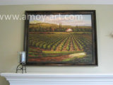 European Vineyard Landscape Oil Painting