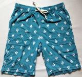 Boat Printed Cotton Towel Lounge Pants Leisure Shorts Beach Pants