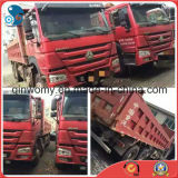 HOWO Dump Truck-18cbm/30~40ton Global-Bulk-Shipping 8*4-LHD-Steering Euro3 Front-Lifting New-Red-Paint