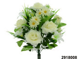 Artificial/Plastic/Silk Flower Rose/Lily/Daisy Mixed Bush (2918008)
