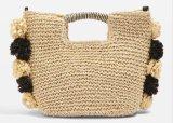 Hand Made Summer Straw Beach Lady Bag Raffia Straw Handbag