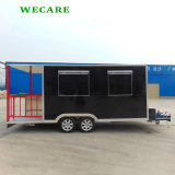 Black Color Mobile Food Trailer with Ce Certificates