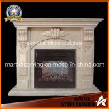 Egypt Cream Marble Fireplace Metal Sculpture